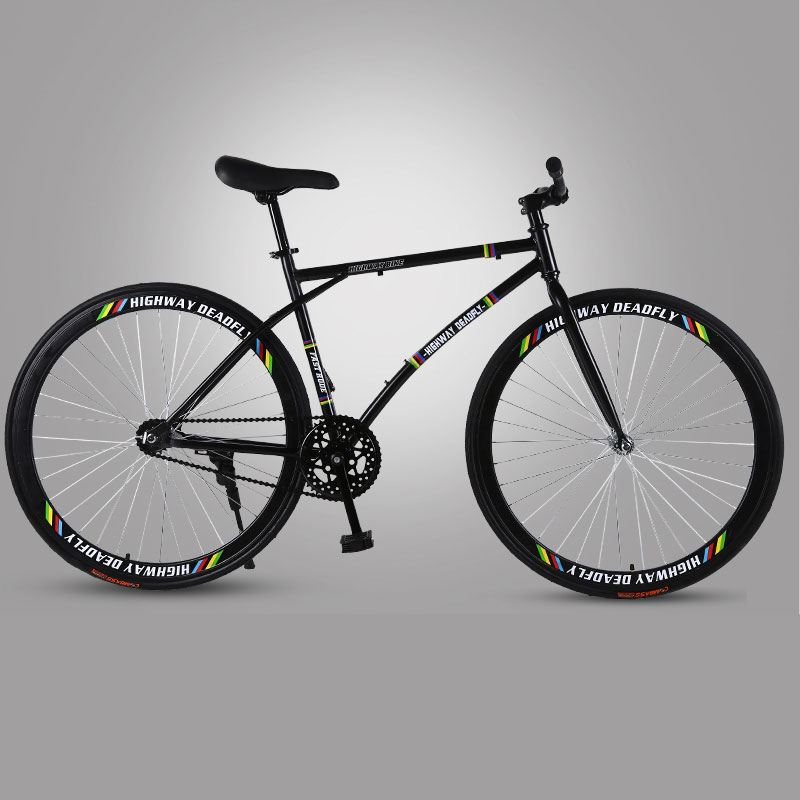Road Bike Fixed Gear Bicycle Light Adult Track Single Speed Bicycle Reverse Brake Fine Tire Bike Adult Student