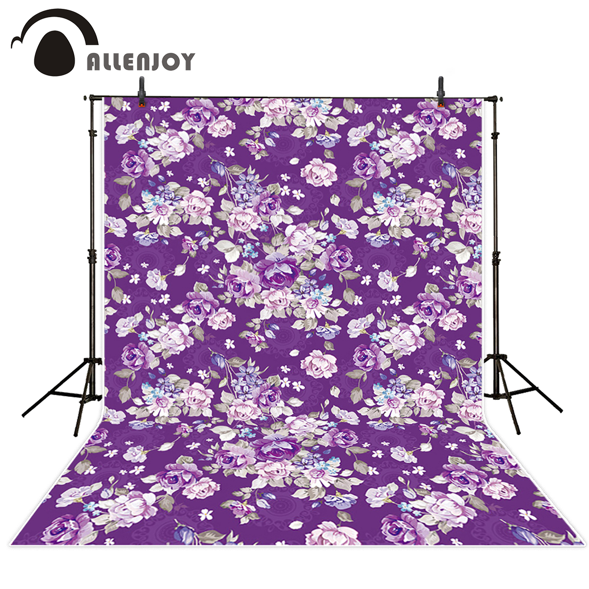 Allenjoy photography backdrops Purple Flowers Background Classic Wedding backdrop photocall for kid photo background photography