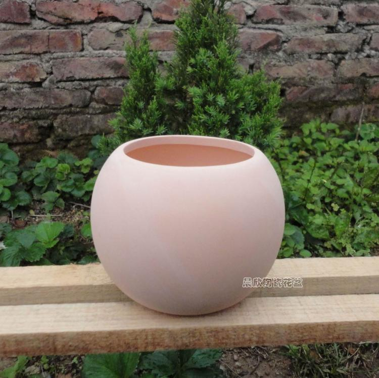Ceramic flower pot ball red clay POTS much meat Diskless flowerpot 12 cm in diam. & Ceramic flower pot ball red clay POTS much meat Diskless flowerpot ...