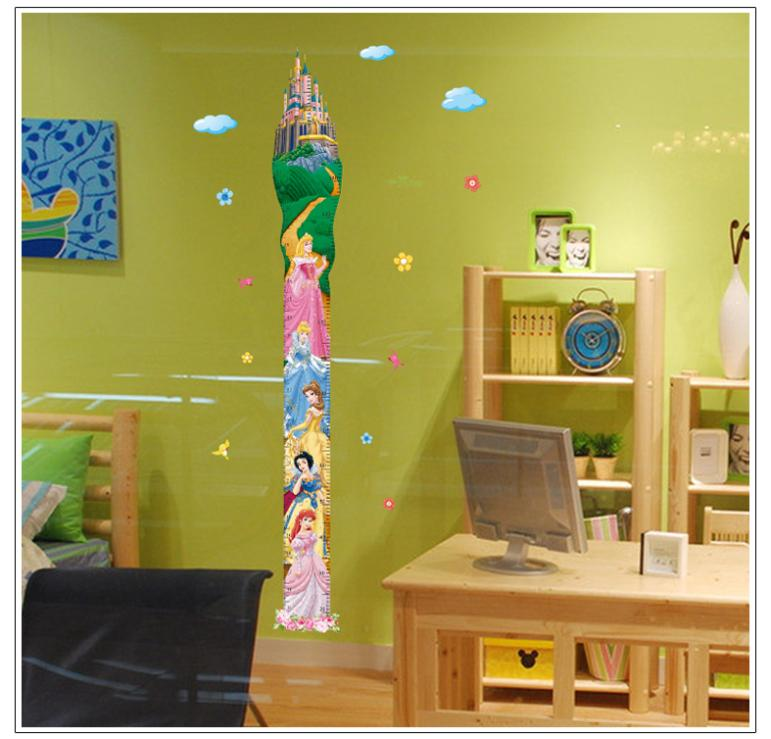 U0026amp; Height Measure Fairy Tale Snow White Princess Wall Stickers Kids  Rooms Girls Boys Room