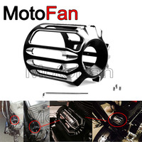 Stylish Motorcycle Oil Filter Cover Machine Oil Grid Deep Cut for Harley Davidson Touring Road King Softail Springer Fat Bob