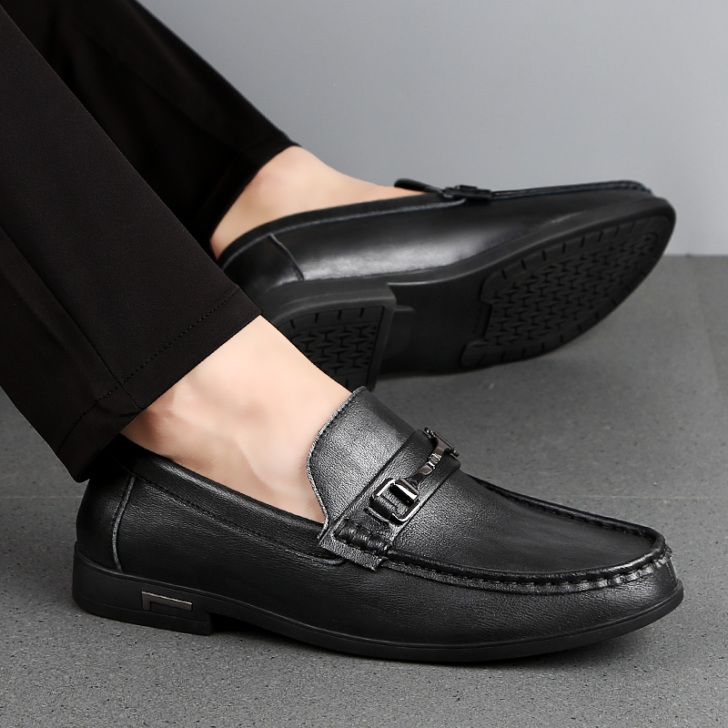 size 38-46 Men Shoes outdoor Casual Genuine Leather Men Loafers Moccasins Designer Slip On Boat Shoes Chaussure Homme L4