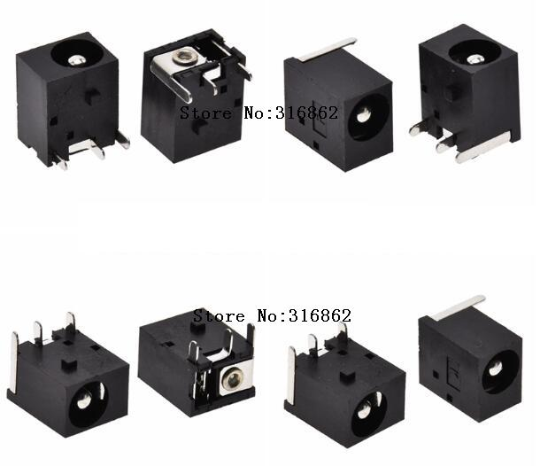 20Pcs DC Power Jack Female DIP 3Pin Socket Connector DC005 5.5x2.5mm For Arduino