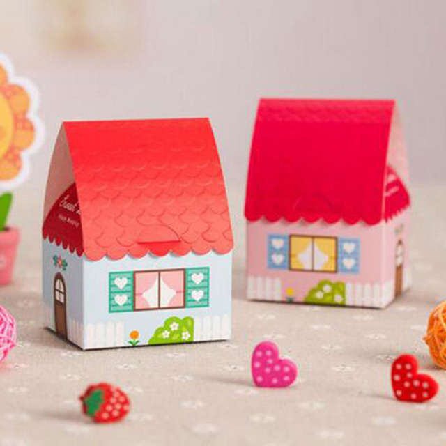 50pcs Colorful House Candy Box Chocolate Sweet Box Souvenirs Baby Shower Wedding Favors And Gifts Event & 50pcs Colorful House Candy Box Chocolate Sweet Box Souvenirs Baby ... Aboutintivar.Com