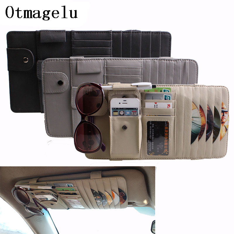 Car Sunshade CD Storage Holder Multifunction Car Sun Visor CD Case for DVD Travel Organizer Business Card Holder CD Storage Bag