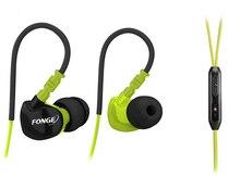 Sweatproof hi-fi handsfree ушной спортом микрофоном бас гарнитура крючок стерео бег