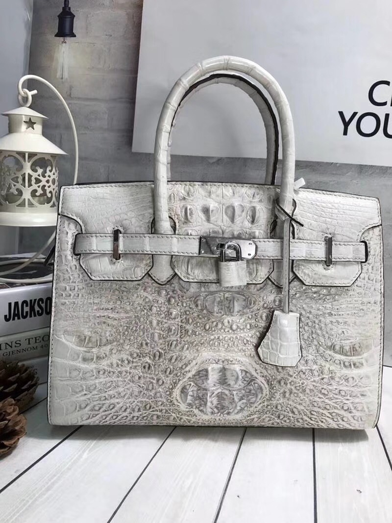 Luxury 30cm Designer Genuine Crocodile Skin Silver Lock Women Totes Handbag Alligator Leather Ladies Female Single Shoulder Bag бра odeon light alvada 2911 3w