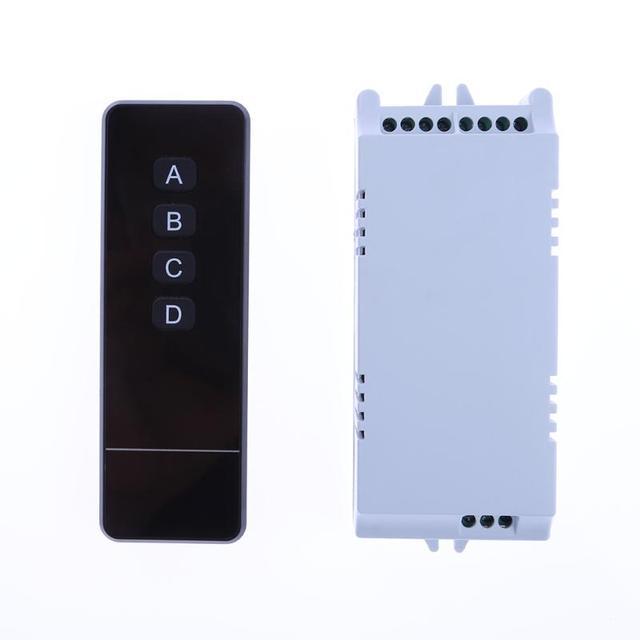 220V 110V 4 Way Lights Wireless RF Remote Control Light Switch ...