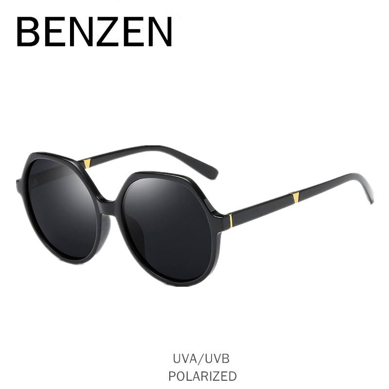 e9a58c13e BENZEN Polarizada Óculos De Sol Das Mulheres Designer de Marca óculos de Sol  Óculos de Proteção UV Feminino Senhoras Do Vintage Sombra Preta Com Caso  6553