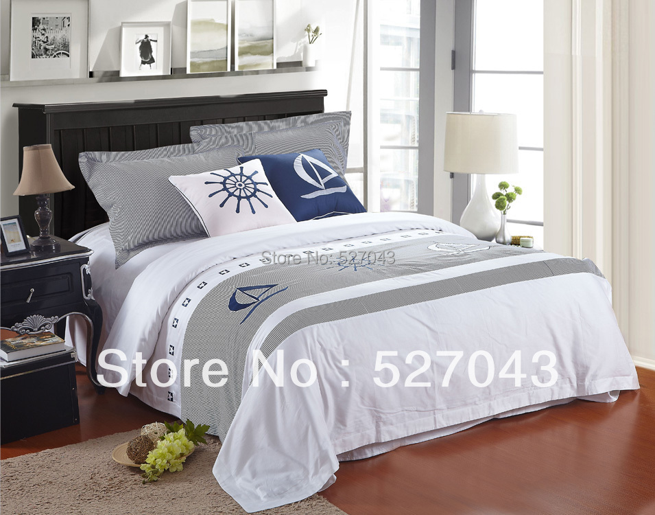 New Fashion the Caribbean Style 6pcs100Cotton Hotel Bedding Set Covers set Queen/Full Size,HYHT001,Free Shipping