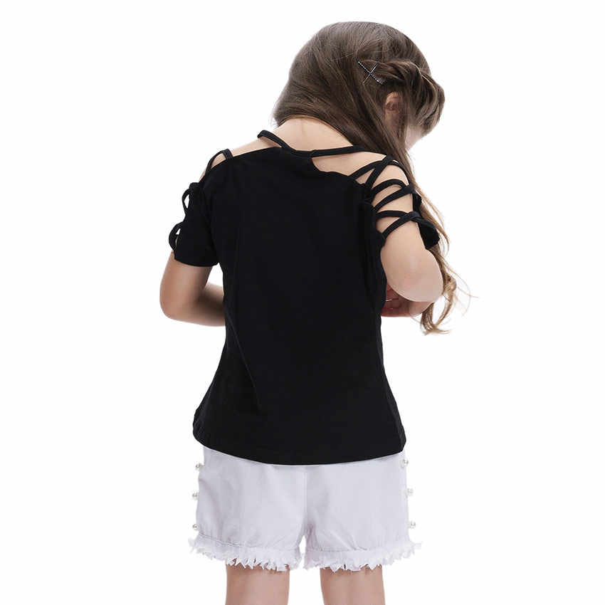 aa04aede0ef54 LCJMMO Fashion Cotton Summer Girls T-shirts With Sequins Discoloration  Children Clothes Girl Short Sleeves Tshirts Kids Tee Tops