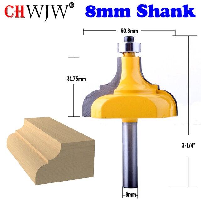 CHWJW 1PC 8mm Shank ramka na zdjęcia/frez do formowania duże przycinanie frez do drewna do obróbki drewna frez elektronarzędzia