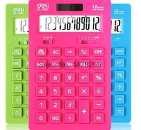 Deli Stationery Effective 1657 Fashion Calculator Desktop Calculator 12 Pairs Power Ultra Slim