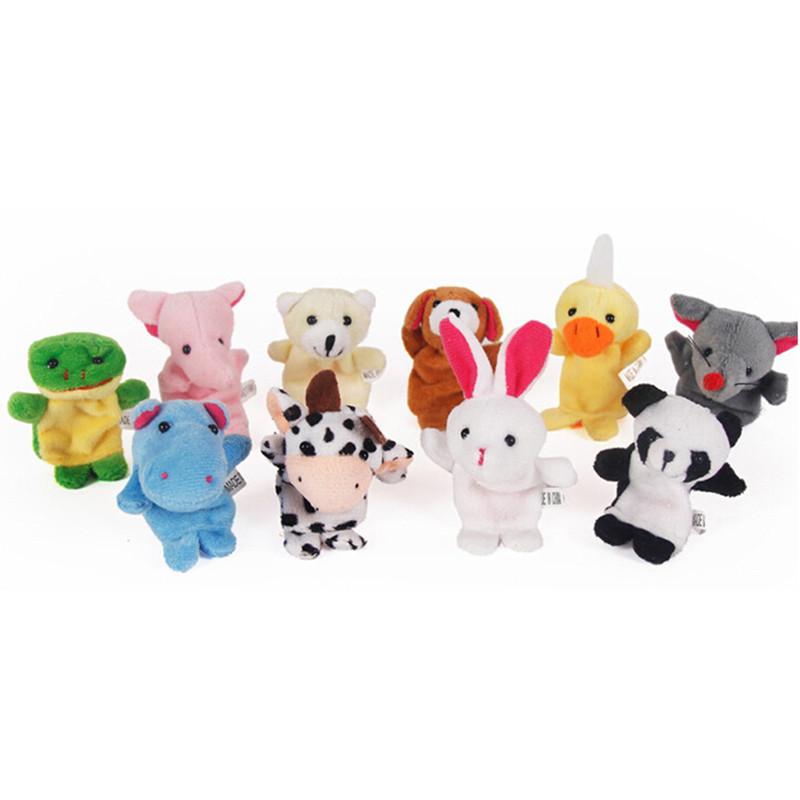10 Buah Banyak Kartun Plush Boneka Jari Jari Mainan untuk Anak Laki ... a8cbb78d87