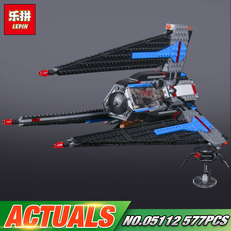Lepin 05112 597Pcs Star Series War Genuine The Tracker I Toys Fighter Set Children Building Blocks Bricks Toy Model 75185 rollercoasters the war of the worlds
