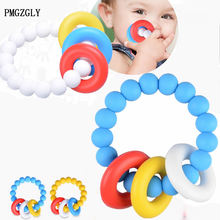 Baby Teething Rings Infant Teether Toy DIY Accessories For 3-36 Month Infants To