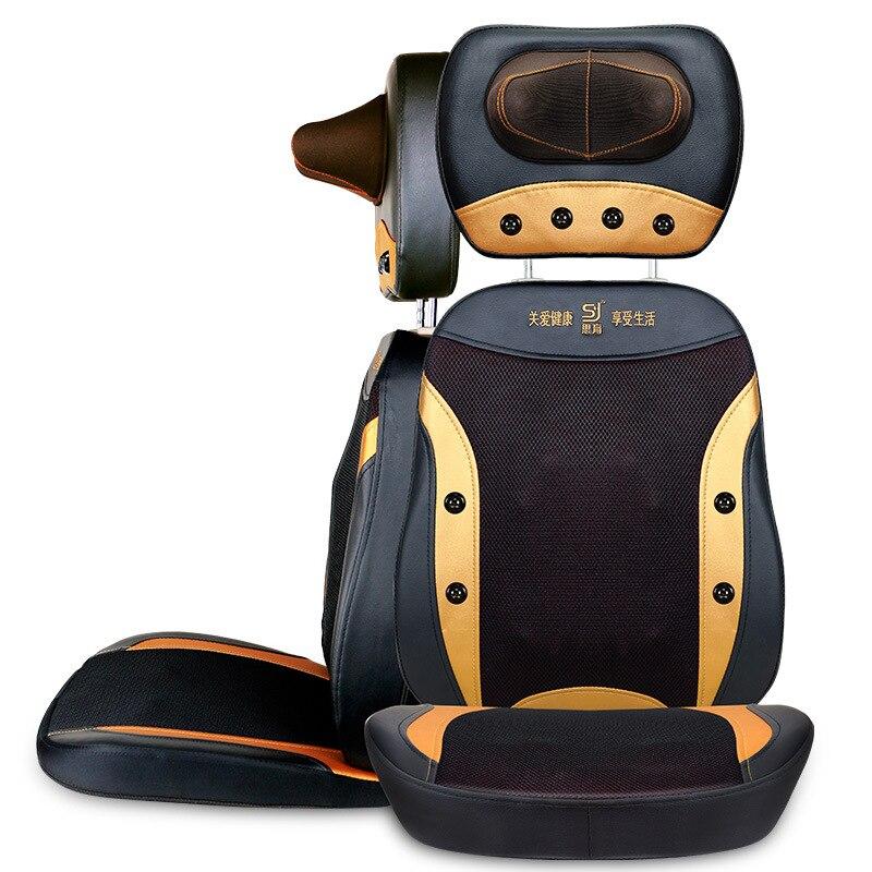 купить Electric back massager vibrator cheap body shoulder Heating GUA SHA massage chair sofa machine Neck masage cushion chair дешево