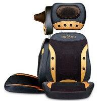 Electric back massager vibrator cheap body shoulder Heating GUA SHA massage chair sofa machine Neck masage cushion chair