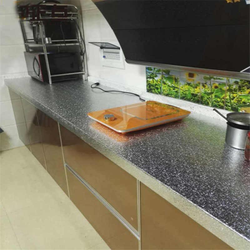 ห้องครัวอลูมิเนียมฟอยล์น้ำมันสติกเกอร์ Anti - fouling อุณหภูมิสูง Self - กาว Croppable วอลล์เปเปอร์สติ๊กเกอร์ติดผนัง