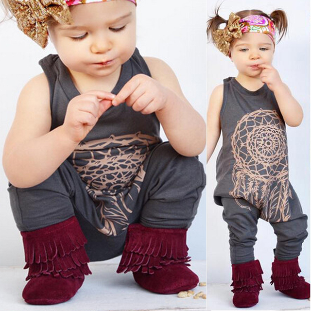 d3fa3675129b3 US $5.56 |New Arrival Cute Toddler Baby Girls Boys Tattoo Print Romper  Playsuit Jumpsuit Outfits Clothes 2017 cute new style-in Rompers from  Mother & ...