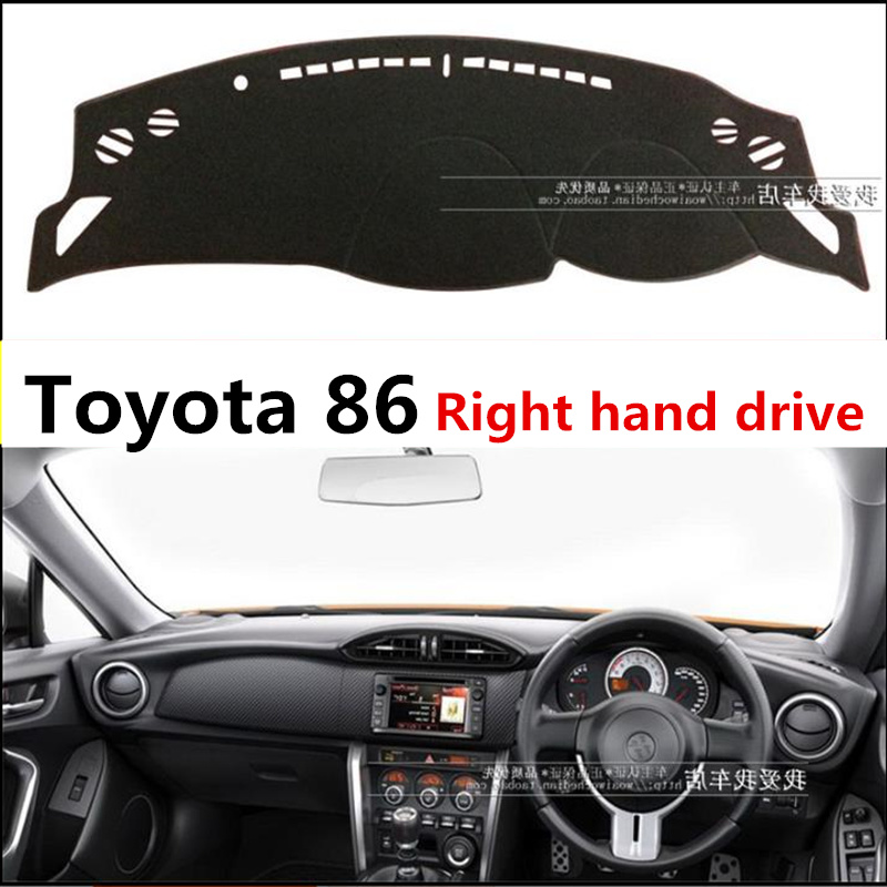 TAIJS Car Dashboard Cover Mat For Toyota 86 Dust Proof