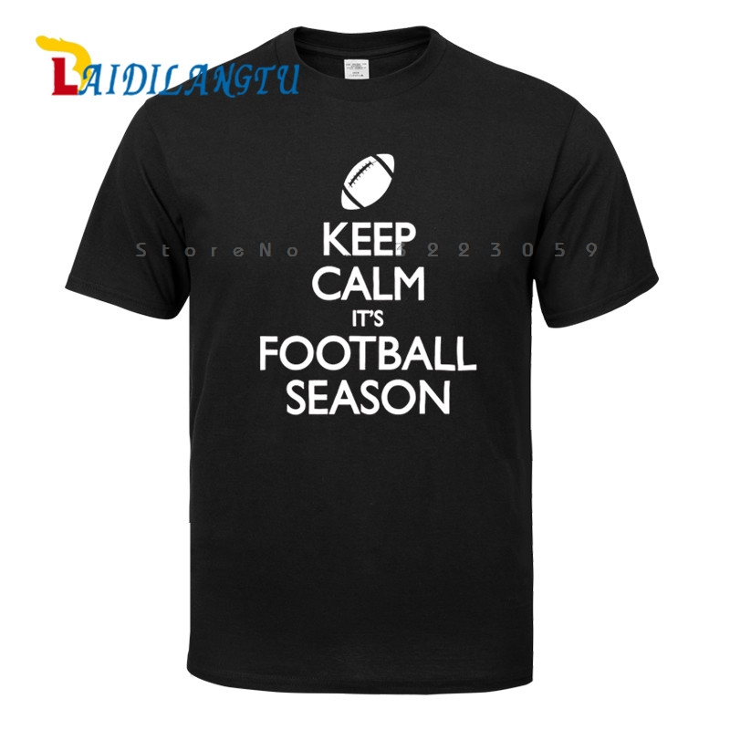 Men's Keep Calm Its Footballs Season Men T-shirt Summer Tops Tees Fashion shirts