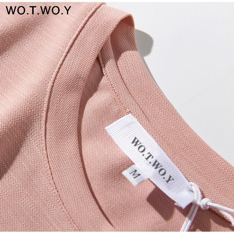 Long T-shirt Dresses Women Summer Sashes Waist Slit Casual O-Neck Short Sleeve Loose Ankle-Length Dress Woman Pink Cotton 14