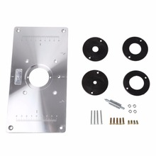 Buy router table plate and get free shipping on aliexpress aluminum router table insert plate w 4 rings screws for woodworking bencheschina greentooth Images