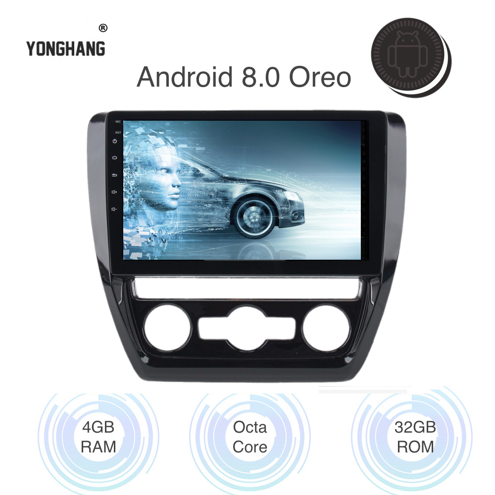 Android 9.0 1 din Car Radio Player for <font><b>VW</b></font> <font><b>Jetta</b></font> GPS Navigation 2011 2012 2013 2014 <font><b>2015</b></font> 8-Core 4gb Ram WIFI Bluetooth RDS image