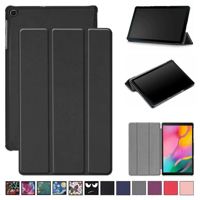 Funda de pie de 3 pliegues para Samsung Galaxy Tab A 10,1 2019 Funda magnética para Samsung SM-T510 Delgada Funda para samsung SM-T515 Capa