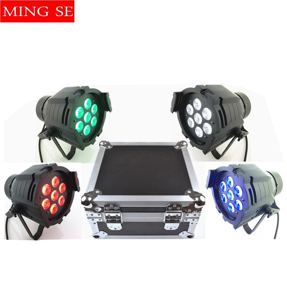 4pcs/lots 7x10W Led Par Light DMX512,RGBW Led Par Light,Mini Led Par 4in1 Cheap Price aluminum Led Par Light with flight case цена