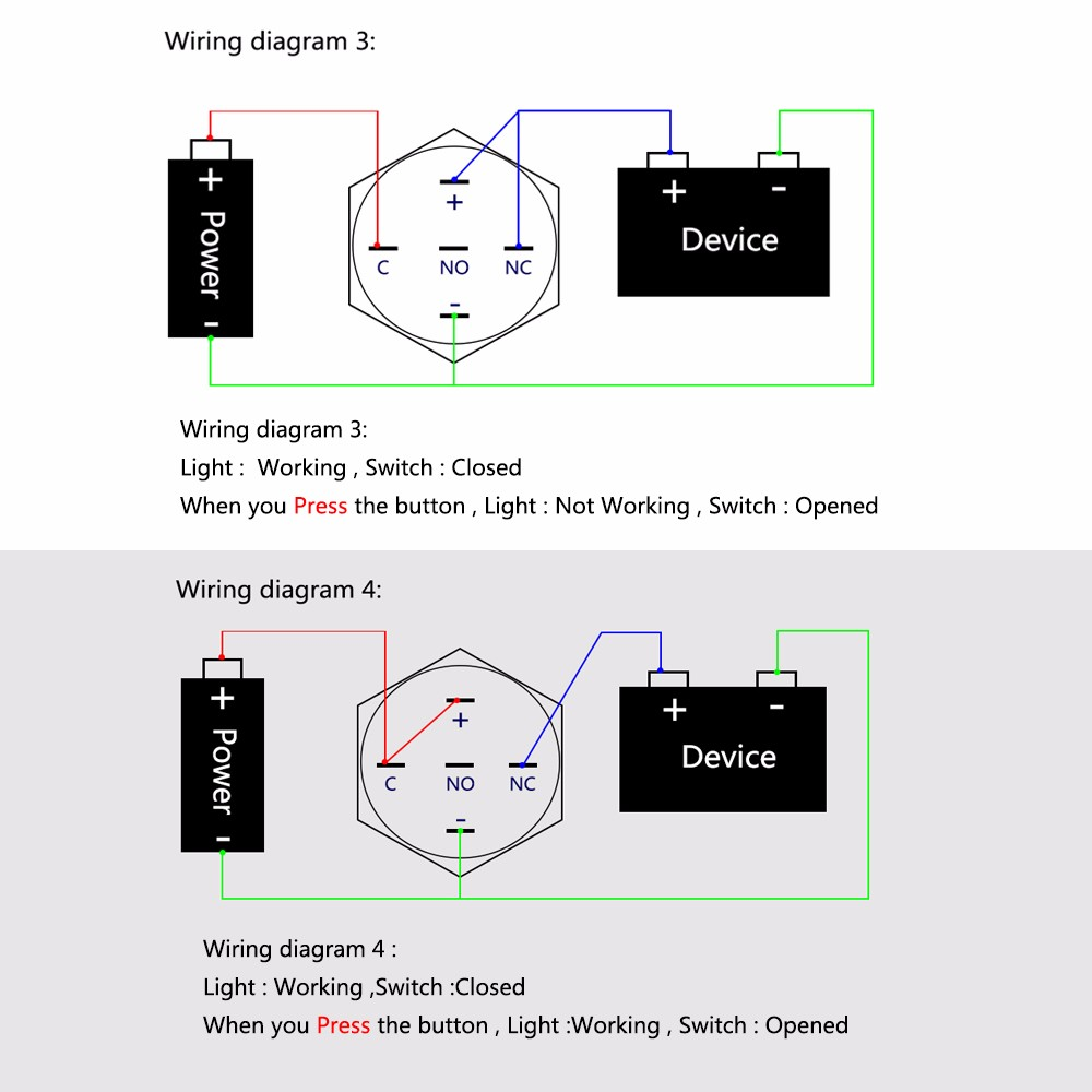 Diy Led Wiring Diagram Momentary Push On Switch Libraries Button 16mm Ideal For Arduino And Raspberry Pimetal Annular Ring