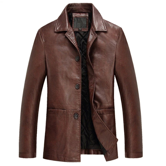 Leather Jacket Men Soft PU Leather JacketS Winter Male Casual Coat Male Jaqueta Masculinas Inverno Couro Plus size 4XL Overcoat