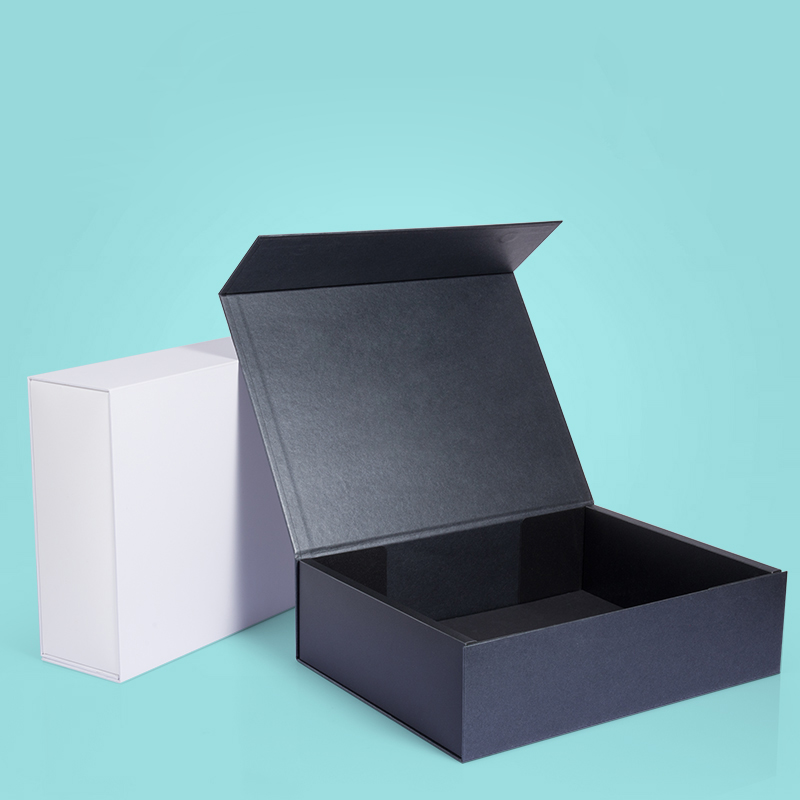 Wholesale 10Pcs/Lot Plain Paperboard Folding Rigid Box Magnetic Closure 6 Colors Available Packaging Hair Wigs Cosmetic Gift Box