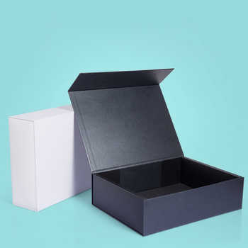 Wholesale 10Pcs/Lot Plain Paperboard Magnetic gift rigid box Magnetic closure 5 colors available packaging weeding favor box