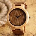 Relógio de quartzo Homens Criativos Naturais de Madeira Relógios de Moda Relógio de Couro Genuíno Cinta Faixa de Relógio de Pulso Das Mulheres Esportes Casuais