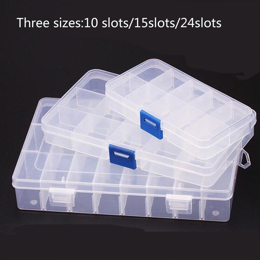 1 Stück Neue 24 Slots Zellen Tragbare Schmuck Werkzeug Box Container Ring Elektronische Teile Schraube Perlen Komponente Lagerung Box Knitterfestigkeit