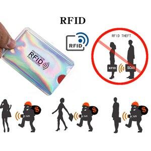 Анти rfid-кошелек, блокирующий металлический кредитный замок, пакет для хранения банковских карт, держатель для карт, Id банковские карты, защита корпуса 6*9,3 см