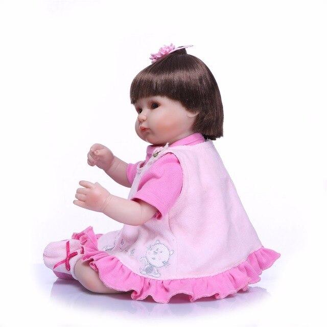 Reborn Baby Doll Toy Cloth Body Stuffed Realistic Baby Doll 4