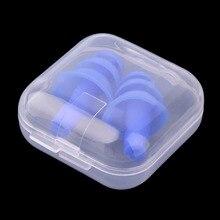 Шумоподавление анти-шум звукоизоляция беруши затычки ушей спать путешествий пена ухо защиты
