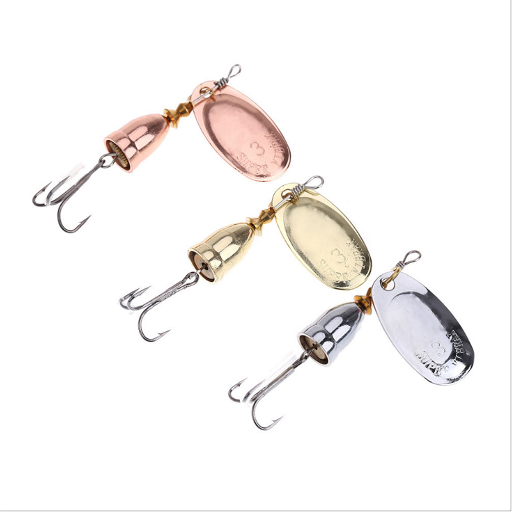 1pcs High Carbon Hooks 19g Spinner Spoon Lures Rotating Fishing Lure Metal Sequins Bait Hooks Peche Fishing Tackle 10pcs box metal spoon fishing lures set in plastic fishing tackle box spinner bait spoon lure jig fishing accessories on sale