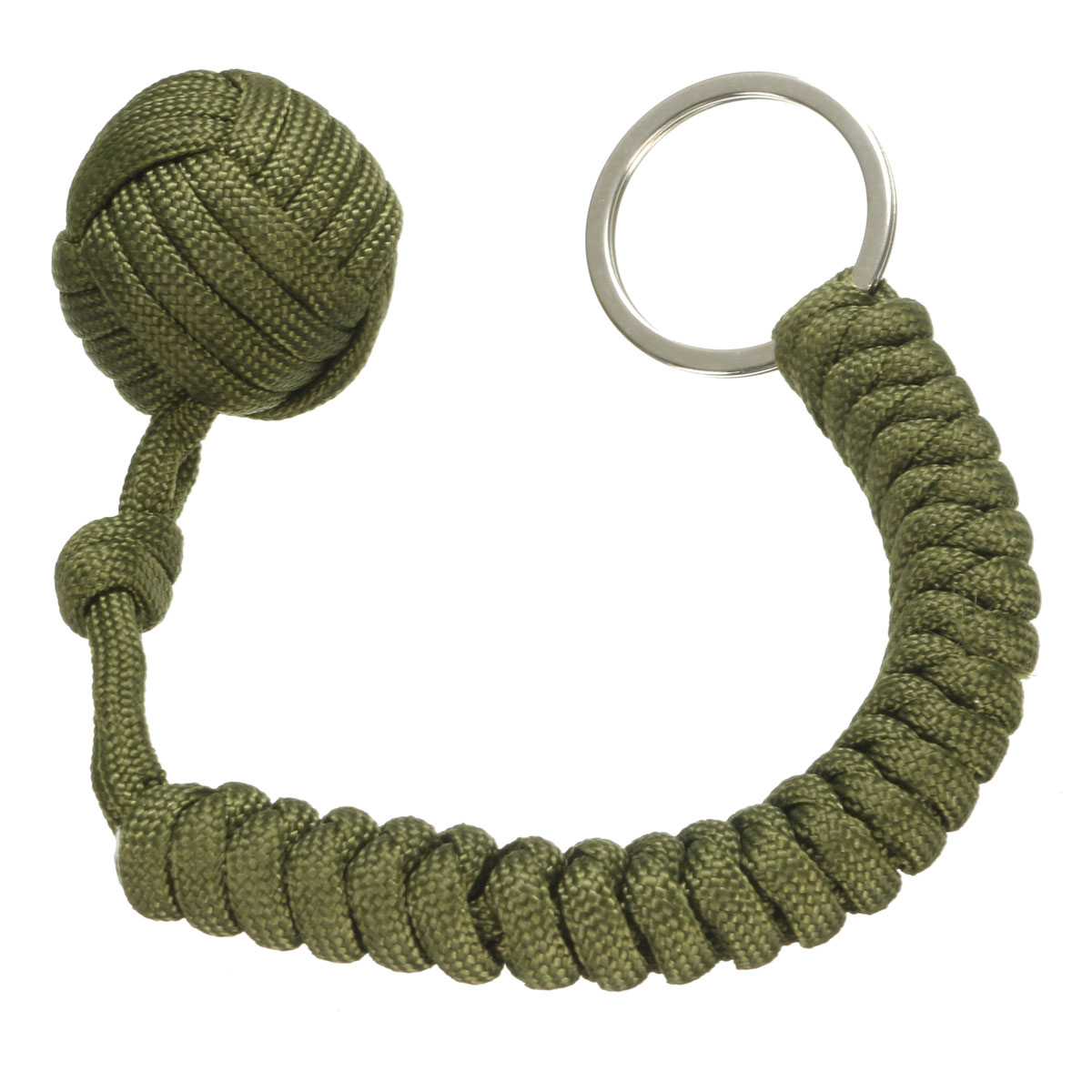 1pcs heavy Steel Ball inside Monkey Fist Security protection for self defense Knife Lanyard Monkey Fist Survival Key Chain tool ...