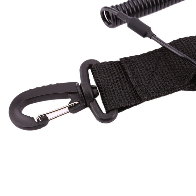 Black TPU &Nylon Buckle Clip Hook for Diving Camera Safety Scuba Diving Camera Elastic Lanyard Buckle Dive Photo Accessories