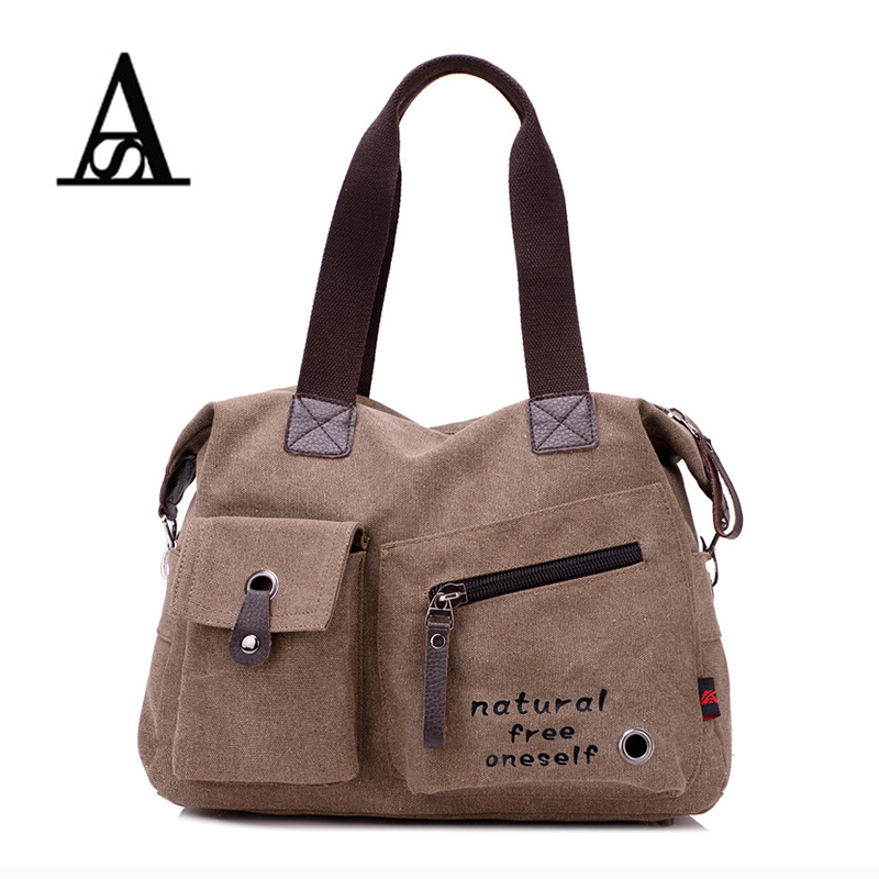 AITESEN Fashion Canvas Messenger Shoulder Bag Luxury Michael Handbags Women Bags Designer Bolsas Victor Hugo Bolsa Feminina
