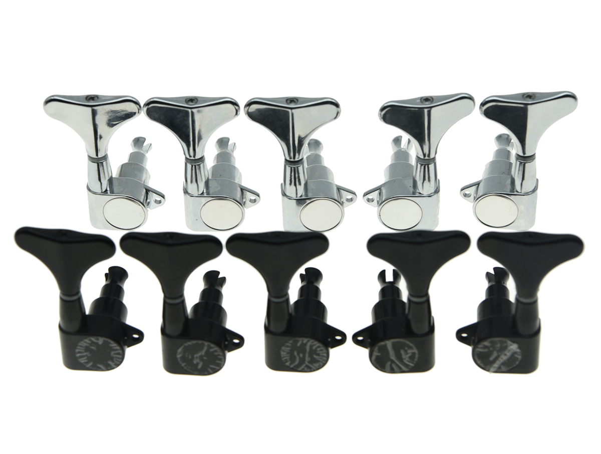 quality 2xleft 3xright sealed bass tuners tuning keys pegs 5 string bass machine heads 2 color. Black Bedroom Furniture Sets. Home Design Ideas