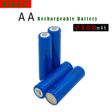 4pcs a lot Ni-MH 2300mAh AA Batteries 1.2V Rechargeable Battery NI-MH battery for Remote control Toys LED lights