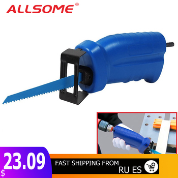 ALLSOME Reciprocating Saw Metal Cutting wood Cutting Tool electric drill attachment with 3 blades Power Tool Accessories HT1569 cutting tool