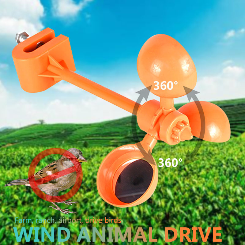 Realistic Bird Repeller Wind Power 360° Outdoors Crow Pigeon Tools