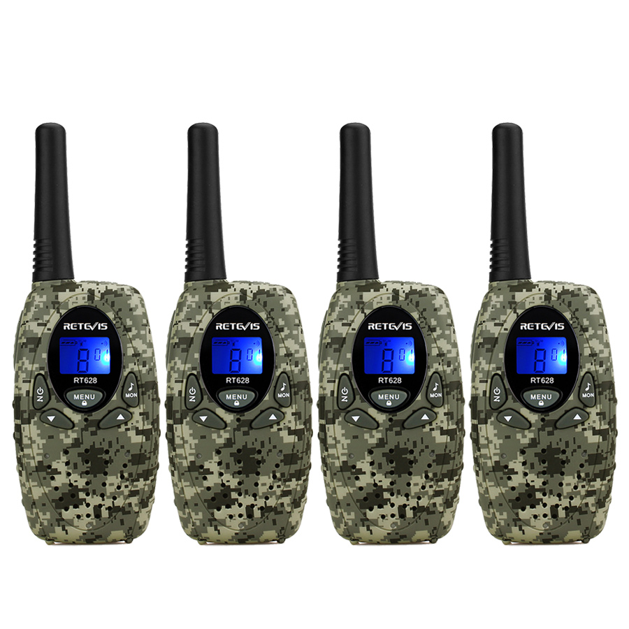 4 pcs Mini Walkie Talkie For Kid 4 Colors Retevis RT628 0.5W UHF PMR446 LCD Display Portable Amateur Two Way Radio Toys4 pcs Mini Walkie Talkie For Kid 4 Colors Retevis RT628 0.5W UHF PMR446 LCD Display Portable Amateur Two Way Radio Toys