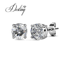 Destiny jewellry Seven Day stud earring embellished with crystal from Swarovski DE0160(China)